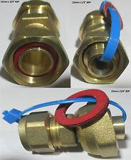 """OTTONE Rubinetto Dritto Connettore commpession dimensioni raccordo 15x1 / 2 """", 15x3 / 4"""", 22X3 / 4 """""""
