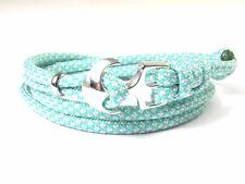 ANCORA armband-paracord-verstellbar-wickelarmband- Turchese & Crema Diamonds