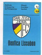 Orig.PRG   EC 2  80/81   CARL ZEISS JENA - BENFICA LISSABON  1/2 FINALE  !! TOP
