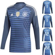 adidas DFB Goalkeeper Jersey Torwarttrikot Neuer ter Stegen Leno WM 2018 blau