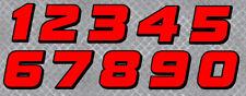 STICKER NUMERO COURSE RACING FLAG ROUGE MOTO CROSS AUTOCOLLANT STICKER NU002RN