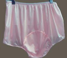 Vintage Adult Sissy Pink Nylon Tricot Panties Large Mushroom Double Gusset