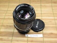 NIKON NIKKOR-P 105mm 1:2.5 LENS WITH CAPS. NON-AI MOUNT F1/F2