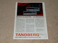 Tandberg Tr-1055, Tr-1020a Receiver Ad,1974,Article,1pg