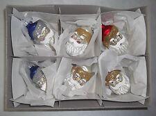 6 Nikolaus Glas Figuren  Weihnachtkugel Weihnacht Cristbaumschmuck Kugel