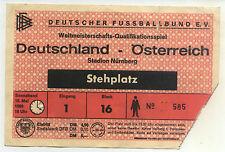 Ticket WM-Qualifikation 10.05.1969 Deutschland - Österreich / Austria, Nürnberg