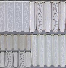 32 cm breite Scheibengardine nach Maß Stickerei Ranke Gardine Panneau Typ199