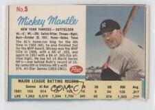 1962 Post #5.2 Mickey Mantle (Post logo on back) New York Yankees Baseball Card
