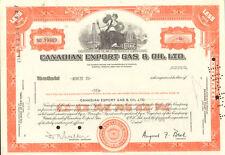 Canadian Export Gas & Oil > 1970 Calgary Alberta Canada stock certificate