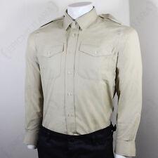 BRITISH ARMY FAWN SHIRT - LONG SLEEVE - FAD Future Army Dress Khaki Surplus No.2
