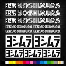 YOSHIMURA 19 Stickers Autocollants Adhésifs Moto Auto Voiture Sponsor Marques