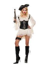 Sexy Starline Pirate Maiden Ruffle Dress w/ Faux Leather Cincher Costume S5013