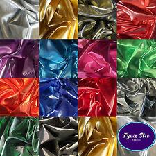 Metallic Shiny Gold Silver Premium Lame Fabric 14 Colours - 150cm Sold Per Metre