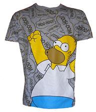 Mens Homer Simpson Woohoo T-Shirt and Krusty Clown 2pk Socks