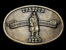 MI29148 *NOS* VINTAGE 1970s **TRAPPER IMPORTED CANADIAN BEER** BELT BUCKLE