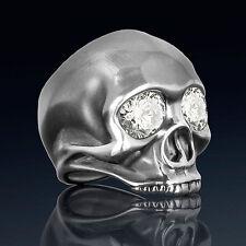 Handmade .925 sterling silver mens biker skull ring inspired by Jimi Hendrix