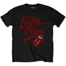 The Rolling Stones Script Logo Official Merchandise T-Shirt M/L/XL - NEU