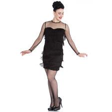 Hell Bunny Retro Vintage 20er-Jahre Flapper Kleid Fransenkleid Gin Rickey Spitze