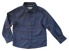 zara niño Azul Sarga Estilo Informal Camisa de manga larga Top 4 años 13-1