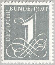 Alemania mié. 226 XV ** dígitos variantes también con borde marca sin fluorescencia
