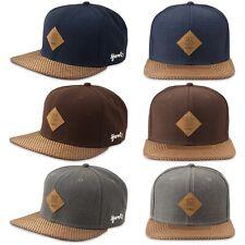 DJINNS Glencheck Snapback Cap - Hat Kappe Mütze Baseballcap Caps Grau Blau Braun