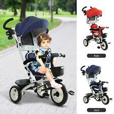 Triciclo Bebé Plegable 4 en 1 Trike Bicicletas para Niños +18 Mes Evolutivo