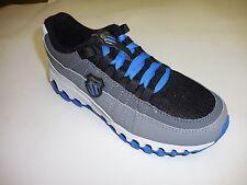 K Swiss Boy's Tubes Backatcha Black Grey Blue Walking Sneakers Size: 2.5 EU 34