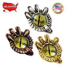Creative Pewter Designs Dragon Claw Green Eye Necklace & Pendant, G019GRN