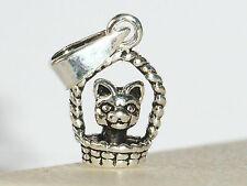 Anhänger niedliche Katze im Körbchen, massiv und stabil, mit oder ohne Kette