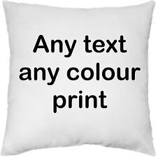 """Personalizado Cushion Covers-Personalizadas Impresas Foto O Texto 40cm (16 """") 100% Algodón"""