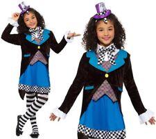 Le ragazze Little Miss Hatter Costume Libro Day Outfit Da Smiffys Nuovi