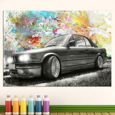 BMW e30 Auto Sportwagen Bild auf Leinwand Abstrakte Bilder Wandbilder D0350 1