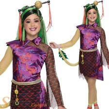 Girls Jinafire Long Monster High Fancy Dress Costume Halloween Child Kids Outfit