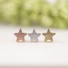 Tiny Star Ohrstecker Ohrringe Stern Rosegold Matt Filigran Minimal Trend