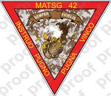 STICKER USMC UNIT MATSG 42                                    USMC LISC NO 19172