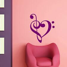 Wandtattoo Auto Musik Herz Heart Love Liebe Note +139+