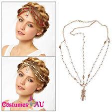 1920s Headband Vintage Boho Bridal Gatsby 20s Bohemia 20's Pearls Headpiece