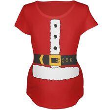 Christmas Santa Claus Costume Red Maternity Soft T-Shirt