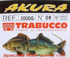 TRABUCCO AKURA GANCI ORO 3000g-Taglia 8, 10, 12, 14, 16, 18-Pack con 15 pezzi
