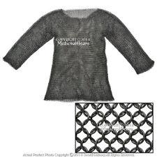 Hauberk Full Sleeves Chainmail Butted LARP Renaissance Costume