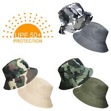 UPF 50+ Protection Boys Kids Camo 2in1 Reversible Cotton Summer Bucket Sun Hat