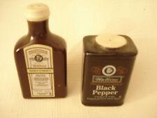 Ceramic.....Watkins- Vanilla & Black Pepper.....Salt  & Pepper Shakers