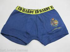 Ed Hardy Designs Boys Boxer Brief Trunks Underwear sizes 12 14 Colour Navy