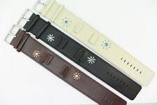 Original Gooix Watch Pad Uhrenarmband Leder Schwarz Beige Braun Stegbreite: 16mm