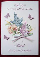 BIRTHDAY CARD - Personalised Handmade A5 40th 50th 60th 65th 80th 90th  (1582)