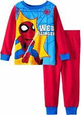 Toddler Boys Marvel Spiderman Pajamas Web Slinger 2 Piece Sleep Set *PICK SIZE*