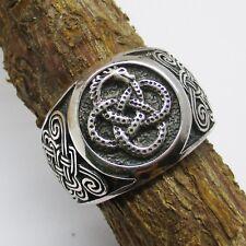 Ouroboros Ring Silber 925er  Schlange Drache keltischer Knoten Unendlichkeit
