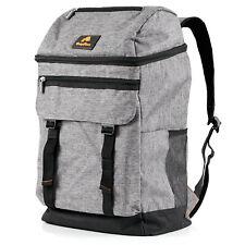 20l CampFeuer Kühlrucksack grau, leicht und wasserdicht, Kühltasche 4 Personen