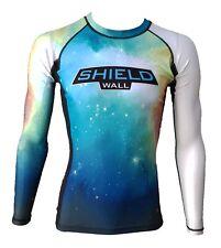 ShieldWall Green Nebula Unisex Rash Guard Rashvest MMA BJJ - Long & Short Sleeve