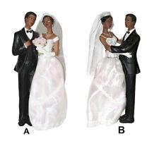 Figurine de mariage couples mariés de couleur grand modèle 23 cm